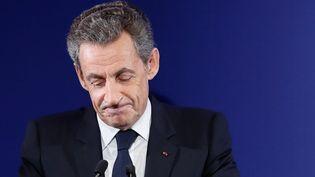 Nicolas Sarkozy, le 20 novembre 2016, à Paris. (IAN LANGSDON /AFP)