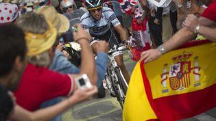 Sur la Vuelta, Alberto Contador va participer à sa dernière course, une pression particulièreavec les attentats en Catalogne. (LIONEL BONAVENTURE / POOL)