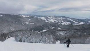 Un skieur dans le massif des Vosges. (CAPTURE ECRAN FRANCE 2)
