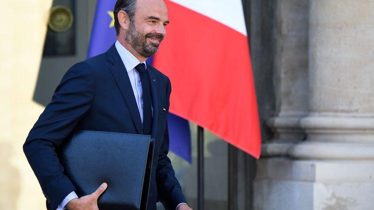 Le Premier ministre, Édouard Philippe, à la sortie de l'Elysée le 10 octobre 2018. (ERIC FEFERBERG / AFP)