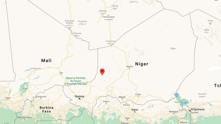 Des attaques ont fait 137morts, le 21 mars 2021, dans le département de Tillia (Niger). (GOOGLE MAPS)