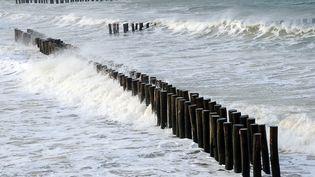 Les grandes marées à Boulogne-su-Mer (Pas-de-Calais), le 19 février 2015. (  MAXPPP)