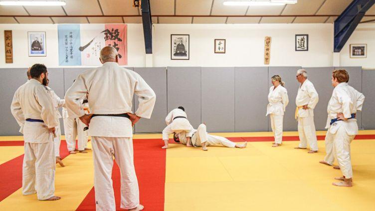 Un club de judo amateur à Perpignan (Pyrénées-Orientales), le 29 avril 2018. (IDHIR BAHA / HANS LUCAS / AFP)