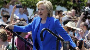 Candidate démocrate à la présidentielle américaine, Hillary Clinton a donné son premier grand discours à New York (Etats-Unis), samedi 13 juin 2015. (CARLO ALLEGRI / REUTERS)