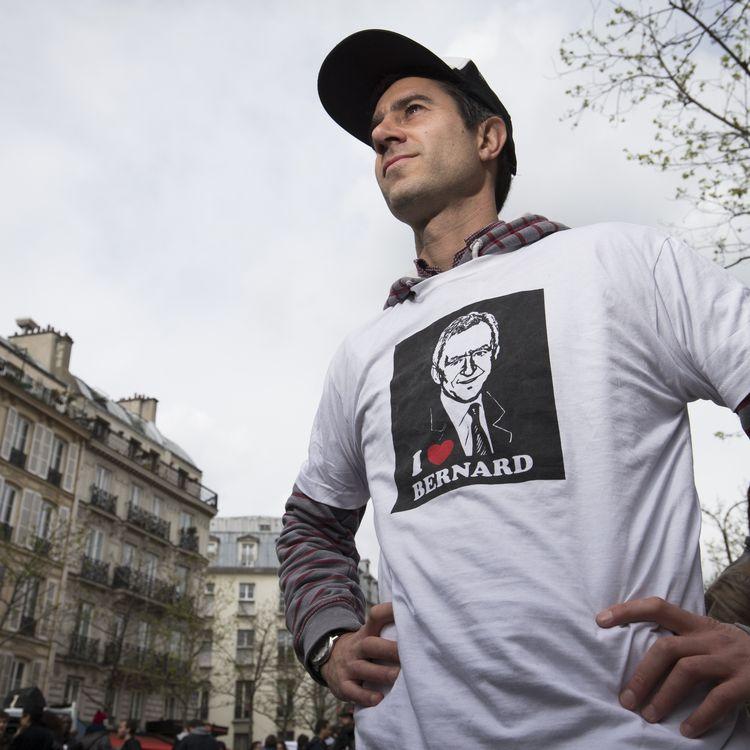 Le journaliste François Ruffin, réalisateurdu documentaireMerci patron !, le 9 avril 2016, à Paris. (JOEL SAGET / AFP)