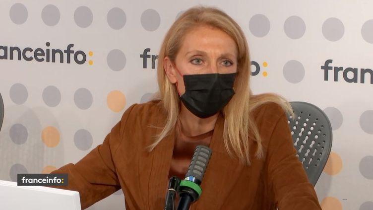 Sybile Veil, présidente de Radio France. (CAPTURE D'ECRAN FRANCEINFO)