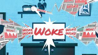 """Au sens littéral """"woke"""" se traduit par """"éveillé"""". (PIERRE-ALBERT JOSSERAND / FRANCEINFO)"""