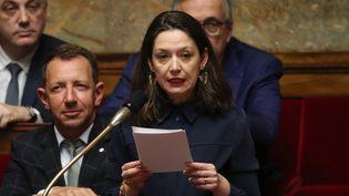 Marie-Pierre Rixain, députée LREM de l'Essonne, à l'Assemblée nationale, le 6 mars 2019. (KENZO TRIBOUILLARD / AFP)