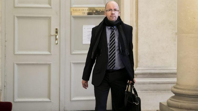 Christophe Lejeune, député LREM de Haute-Saône, à l'Assemblée nationale, le 20 décembre 2017. (VINCENT ISORE / MAXPPP)