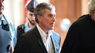 Jérôme Cahuzac au tribunal de Paris, le 15 mai 2018. (ERIC FEFERBERG / AFP)