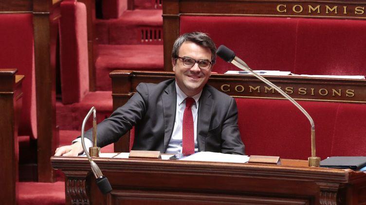 Le député PS de Saône-et-Loire Thomas Thévenoud, le 10 juillet 2014 à l'Assemblée nationale. (MAXPPP)