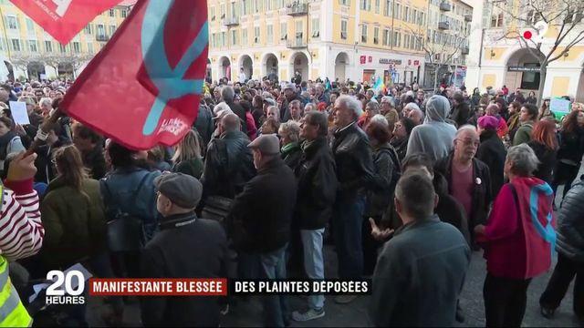 Nice : des plaintes déposées après la blessure d'une manifestante septuagénaire