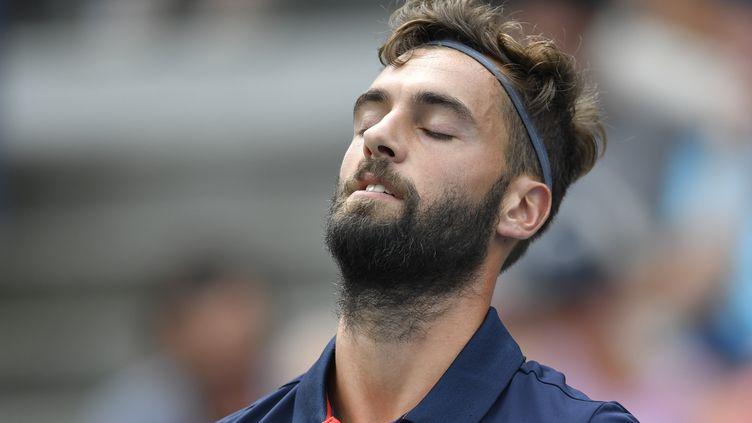 Le Français Benoît Paire lors de l'US Open, à New York (Etats-Unis), le 31 août 2016. (EDUARDO MUNOZ ALVAREZ / AFP)