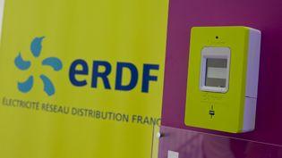Un compteur électrique Linky, connecté à internet, sur un site témoin d'ERDF, le 20 mai 2014 à Paris. (MAXPPP)
