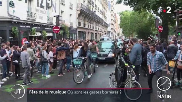 Fête de la musique : à Paris, la distanciation et les masques ont été oubliés