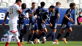 Un match de foot en championnat de Ligue 1, entre Bordeaux et Dijon, le 4 octobre 2020. (ROMAIN PERROCHEAU / AFP)