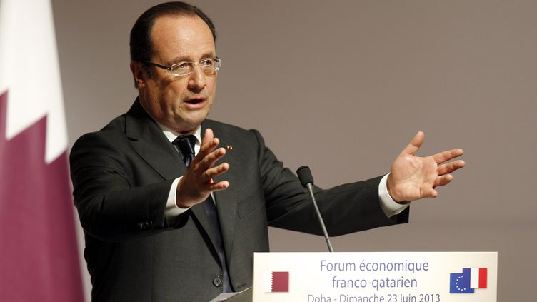 François Hollande à Dohar, au Qatar, le 23 juin 2013. (MOHAMAD DABBOUSS / REUTERS)