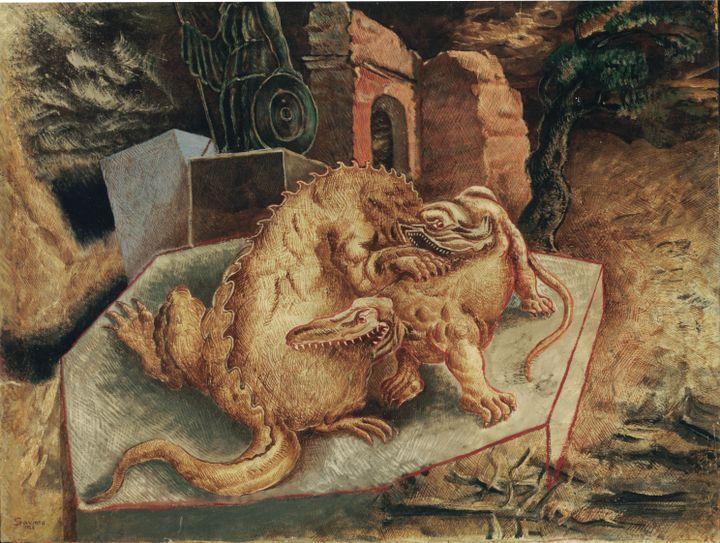 Alberto Savinio, Souvenir d'un monde disparu, 1928, Collection particulière, Italie (© Adagp, Paris 2019)