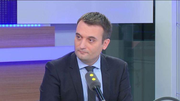 Florian Philippot était l'invité de franceinfo, le 24 novembre 2016. (FRANCEINFO)