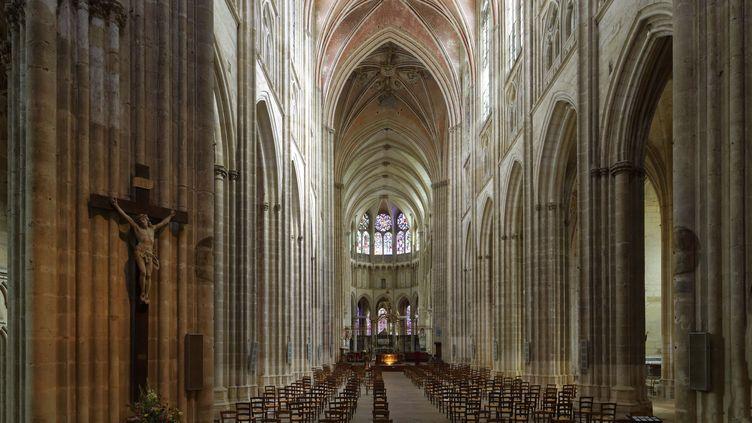 La cathédrale Saint-Etienne, à Auxerre (Yonne), en septembre 2020. (MATTES RENE / HEMIS.FR / AFP)