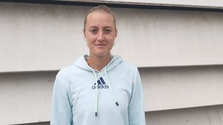 Kristina Mladenovic, joueuse de tennis. (SEBASTIEN BAER / RADIO FRANCE)