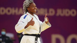 La judokate française Romane Dicko. (KARIM JAAFAR / AFP)