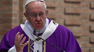 Le Pape François à Rome le 12 mars 2017 (ALBERTO PIZZOLI / AFP)