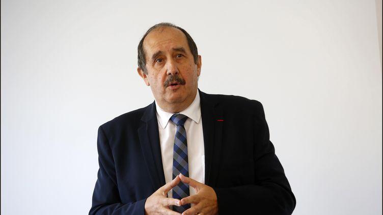 Patrick Bouet, président du Conseil national de l'ordre des médecins, le 12 octobre 2017 à Paris. (LUC NOBOUT / MAXPPP)