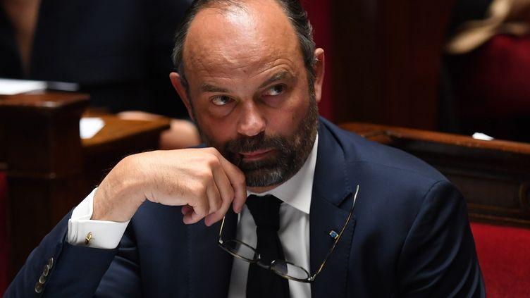 Le Premier ministre Edouard Philippe lors de la séance de questions au gouvernement, le 14 mai 2019 à l'Assemblée nationale à Paris. (CHRISTOPHE ARCHAMBAULT / AFP)