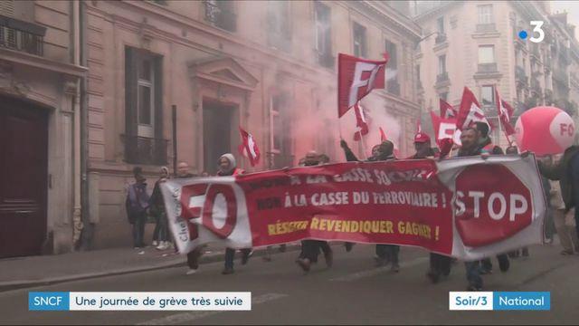 SNCF : premier jour de grève réussi et premières tensions
