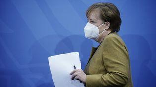 La chancelière allemande, Angela Merkel, le 5 janvier 2021 à Berlin (Allemagne). (MICHAEL KAPPELER / AFP)