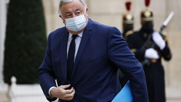 Le président du Sénat Gérard Larcher arrivant au palais de l'Elysée à Paris (France) le 2 décembre 2020. Il a porté plainte contre l'homme mis en garde à vue. (THOMAS COEX / AFP)