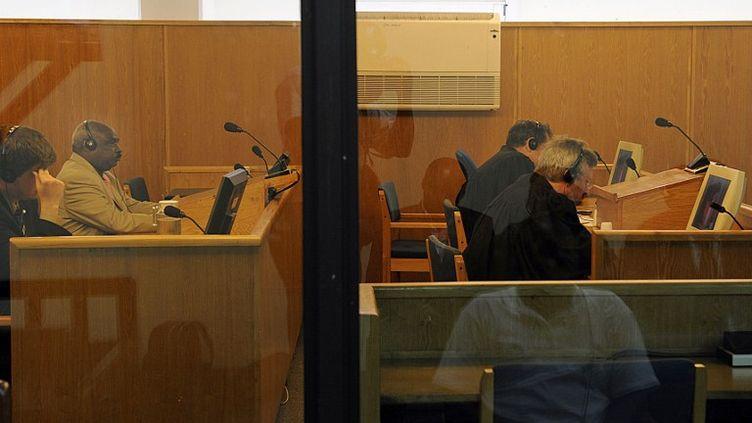 Une audience se déroule au Tribunal pénal international pour le Rwanda (TPIR) à Arusha, en Tanzanie, le 18 décembre 2008. (TONY KARUMBA / AFP)