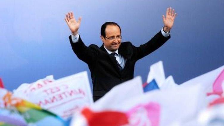 François Hollande à Bordeaux (19 avril 2012) (JEAN-PIERRE MULLER / AFP)