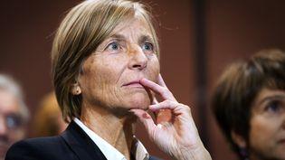 Marielle de Sarnez, vice-président du MoDem, lors d'une conférence de presse de François Bayrou, à Paris, le 30 novembre 2011. (LIONEL BONAVENTURE / AFP)