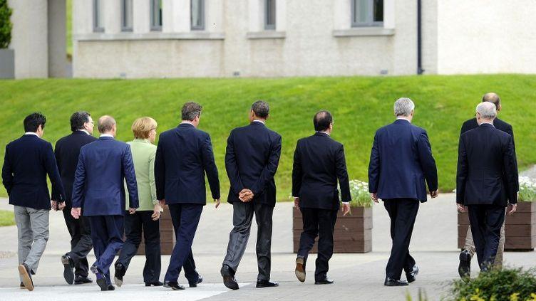 Les dirigeants du G8 sont réunis près deEnniskillen (Irlande du Nord), le 18 juin 2013. (JEWEL SAMAD / AFP)