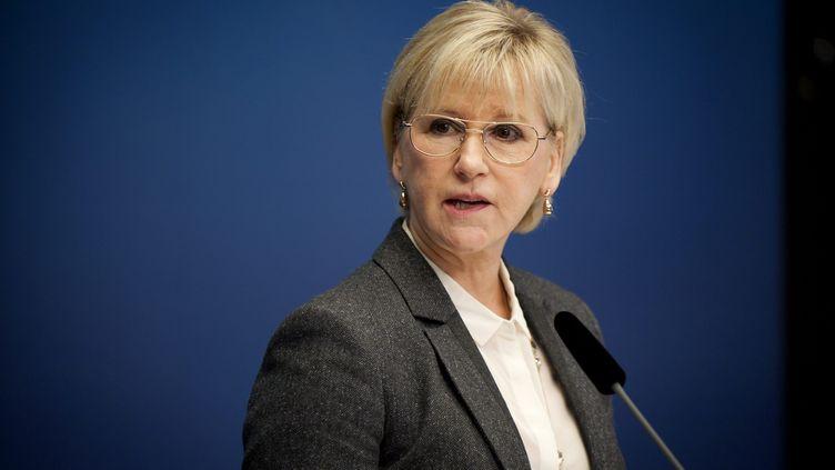 La ministre des Affaires étrangères suédoise Margot Wallström, le 30 octobre à Stockholm. (ANNIKA AF KLERCKER / TT NEWS AGENCY)