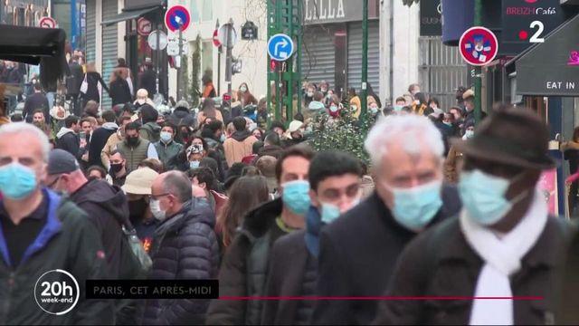 Nouvelles mesures sanitaires : foule dans les rues de Paris