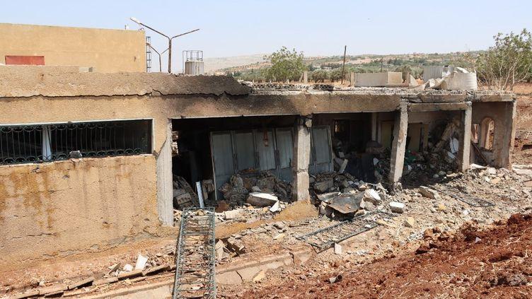 Des bâtiments ont été détruits dans des bombardements àIdlib (Syrie), le 3 juillet 2021. (SYRIAN CIVIL DEFENSE / WHITE HELME / ANADOLU AGENCY / AFP)