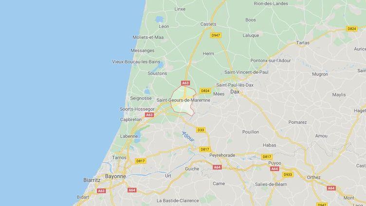 Unautomobilistea percuté un poteau électrique, à Saint-Geours-de-Maremne (Landes),dimanche 29 juillet 2019. (GOOGLE MAPS)