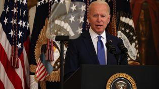 Le président des Etats-Unis, Joe Biden, le 25 juin 2021 à la Maison Blanche, à Washington (Etats-Unis). (CHIP SOMODEVILLA / GETTY IMAGES NORTH AMERICA / AFP)