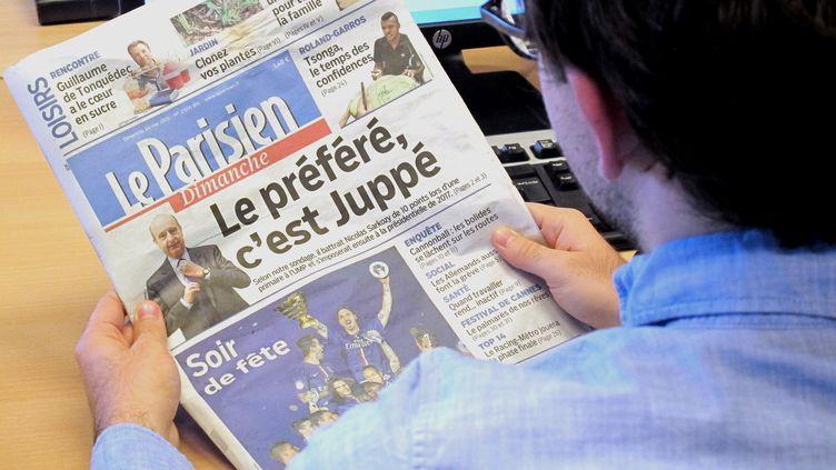"""La une du """"Parisien"""", le 24 mai 2015. (FRANCETV INFO)"""