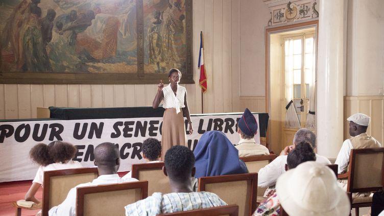 """Marème N'Diaye, alias Fari Ciss, dans une scène de la série """"Black and White"""" diffusée les 10 et 17 décembre 2020 sur France 3. (JEM PRODUCTIONS - BLACK AND WHITE)"""