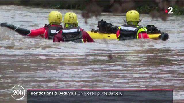 Inondations dans l'Oise : un jeune de 17 ans porté disparu à Beauvais