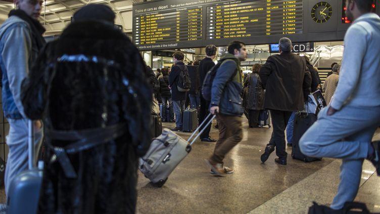 Le hall de la gare de Lyon Part-Dieu, le 22 décembre 2013. (  MAXPPP)