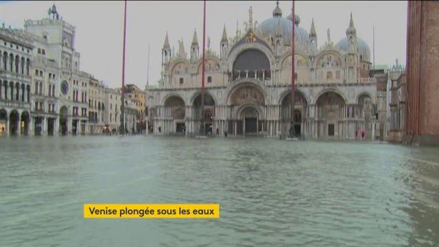 Italie : Venise, inondée après une marée haute historique