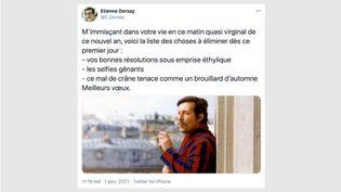 Le compte Twitter Etienne Dorsay. (CAPTURE D'ÉCRAN)