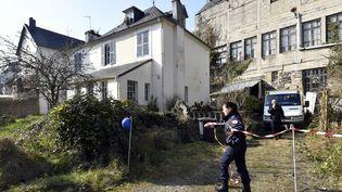 Des fouilles privées ont eu lieu, samedi 24 février 2018, dans l'ancienne maison de Guillaume Seznec, à Morlaix (Finistère). (MAXPPP)