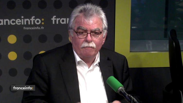 Photo d'illustration. André Chassaigne, député PCF du Puy-de-Dôme, le mercredi 6 juin sur franceinfo (FRANCEINFO / RADIOFRANCE)