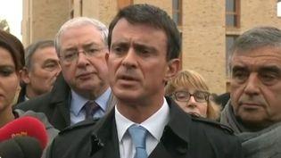 Manuel Valls aux Mureaux (Yvelines), le 26 octobre 2015. ( FRANCE TÉLÉVISIONS )